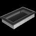 Вентиляционная решетка Kratki 17x30 см Oskar Черная без жалюзи