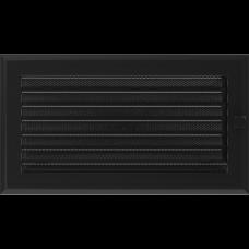 Вентиляционная решетка Kratki 17x30 см Oskar Черная с жалюзи