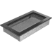 Вентиляционная решетка Kratki 17x30 см Черное серебро без жалюзи
