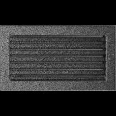 Вентиляционная решетка Kratki 17x30 см Черное серебро с жалюзи