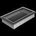 Вентиляционная решетка Kratki 17x30 см Oskar Черное серебро без жалюзи
