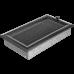 Вентиляционная решетка Kratki 17x30 см Oskar Черное серебро с жалюзи