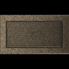 Вентиляционная решетка Kratki 17x30 см Черное золото без жалюзи