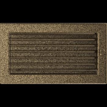 Вентиляционная решетка Kratki 17x30 см Черное золото с жалюзи