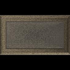 Вентиляционная решетка Kratki 17x30 см Oskar Черное золото без жалюзи
