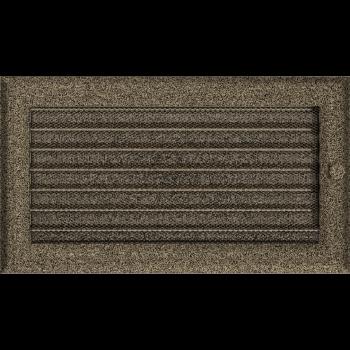 Вентиляционная решетка Kratki 17x30 см Oskar Черное золото с жалюзи