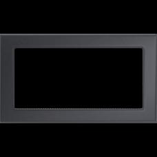 Вентиляционная решетка Kratki 17x30 см Графитовая без жалюзи