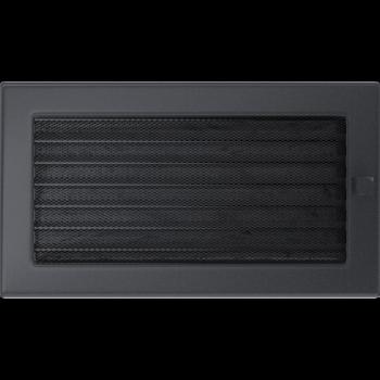 Вентиляционная решетка Kratki 17x30 см Графитовая с жалюзи
