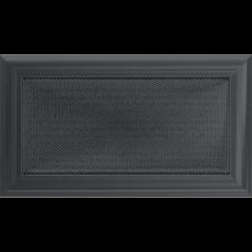 Вентиляционная решетка Kratki 17x30 см Oskar Графитовая без жалюзи