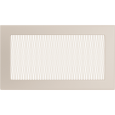 Вентиляционная решетка Kratki 17x30 см Кремовая без жалюзи