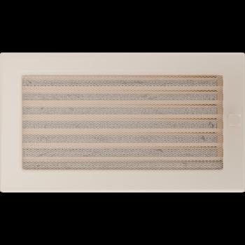 Вентиляционная решетка Kratki 17x30 см Кремовая с жалюзи