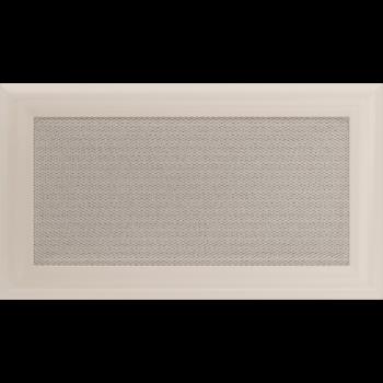 Вентиляционная решетка Kratki 17x30 см Oskar Кремовая без жалюзи