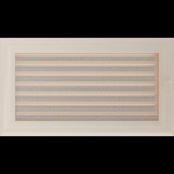 Вентиляционная решетка Kratki 17x30 см Oskar Кремовая с жалюзи