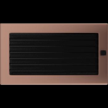 Вентиляционная решетка Kratki 17x30 см Медь гальванизированная с жалюзи