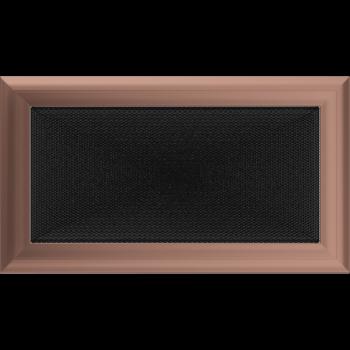 Вентиляционная решетка Kratki 17x30 см Oskar Медь гальванизированная без жалюзи
