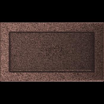 Вентиляционная решетка Kratki 17x30 см Медь крашеная без жалюзи