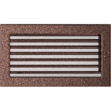 Вентиляционная решетка Kratki 17x30 см Медь крашеная с жалюзи