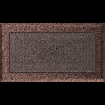 Вентиляционная решетка Kratki 17x30 см Oskar Медь крашеная без жалюзи