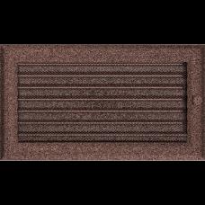 Вентиляционная решетка Kratki 17x30 см Oskar Медь крашеная с жалюзи
