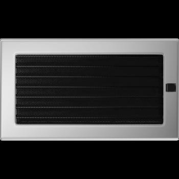 Вентиляционная решетка Kratki 17x30 см Никелированная без жалюзи