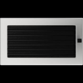 Вентиляционная решетка Kratki 17x30 см Шлифованная сталь с жалюзи