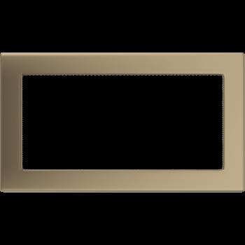 Вентиляционная решетка Kratki 17x30 см Золото гальванизированное без жалюзи