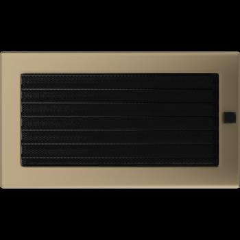 Вентиляционная решетка Kratki 17x30 см Золото гальванизированное с жалюзи