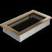 Вентиляционная решетка Kratki 17x30 см Золотая без жалюзи