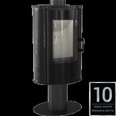 Печь отдельно стоящая Kratki Koza AB S/N/O GLASS кафель черный